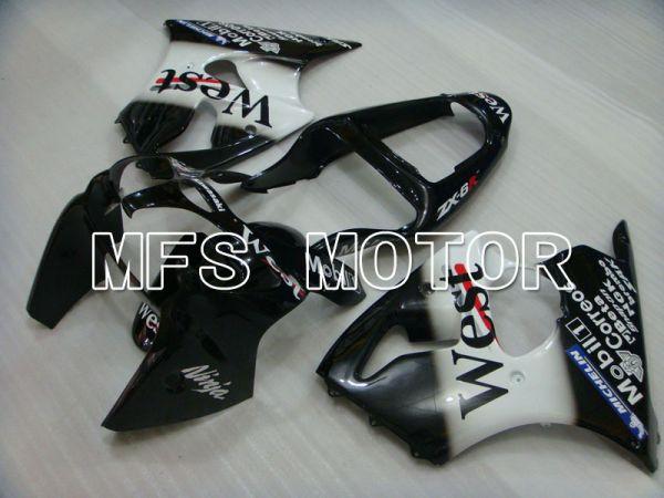 Kawasaki NINJA ZX6R 2000-2002 Injection ABS Fairing - West - Black White - MFS3653