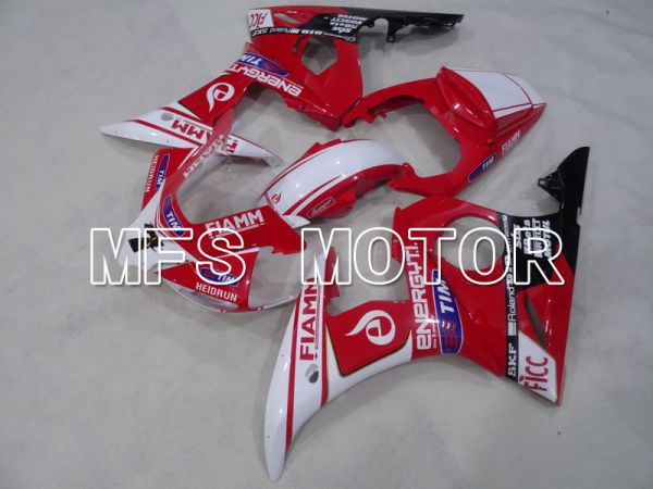 Yamaha YZF-R6 2005 Injection ABS Fairing - FIAMM - Red White - MFS3654