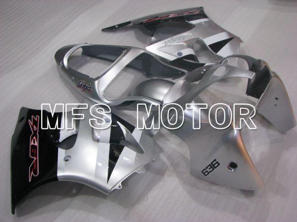 Kawasaki NINJA ZX6R 2000-2002 Injection ABS Fairing - Factory Style - Black Silver - MFS3656