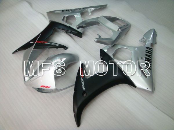 Yamaha YZF-R6 2003-2004 Injection ABS Fairing - Factory Style - Silver Black Matte - MFS3662