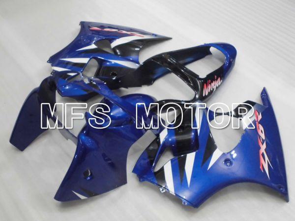 Kawasaki NINJA ZX6R 2000-2002 Injection ABS Fairing - Factory Style - Black Blue - MFS3676