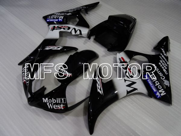 Yamaha YZF-R6 2003-2004 Injection ABS Fairing - West - White Black - MFS3681