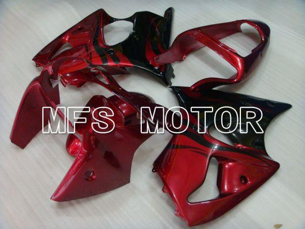 Kawasaki NINJA ZX6R 2000-2002 Injection ABS Fairing - Factory Style - Black Red - MFS3687