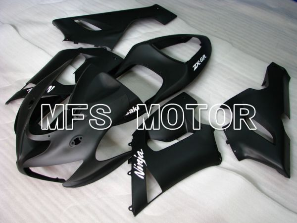 Kawasaki NINJA ZX6R 2005-2006 Injection ABS Fairing - Factory Style - Black Matte - MFS3753