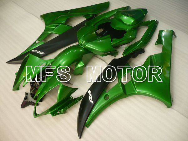 Yamaha YZF-R6 2006-2007 Injection ABS Fairing - Factory Style - Green Black Matte - MFS3765
