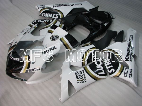 Kawasaki NINJA ZX6R 2005-2006 Injection ABS Fairing - Lucky Strike - Black White - MFS3773