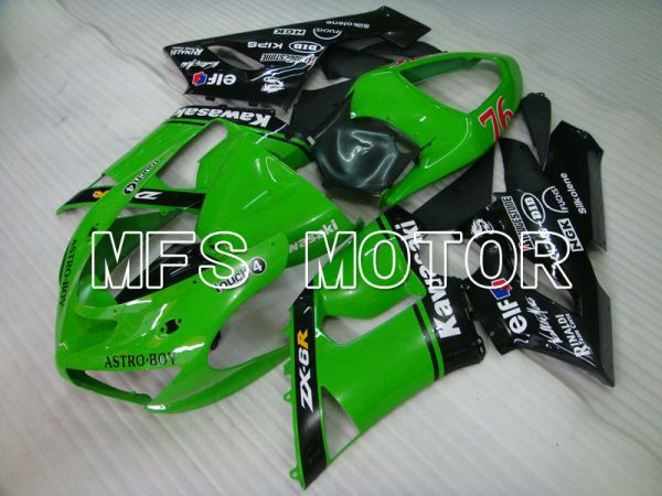 Kawasaki NINJA ZX6R 2005-2006 Injection ABS Fairing - Others - Black Green - MFS3783