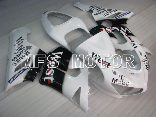 Kawasaki NINJA ZX6R 2005-2006 Injection ABS Fairing - West - Black White - MFS3787