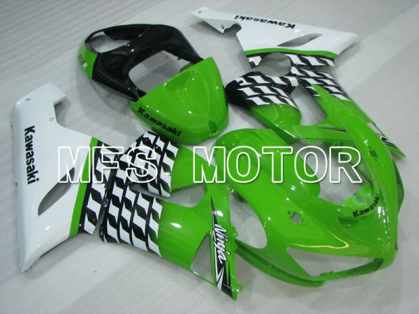 Kawasaki NINJA ZX6R 2005-2006 Injection ABS Fairing - Factory Style - Green White - MFS3791