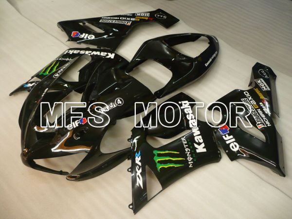 Kawasaki NINJA ZX6R 2005-2006 Injection ABS Fairing - Monster - Black - MFS3799