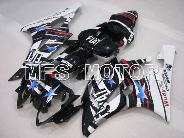 Yamaha YZF-R6 2006-2007 Injection ABS Fairing - FIAT - Black White - MFS3816
