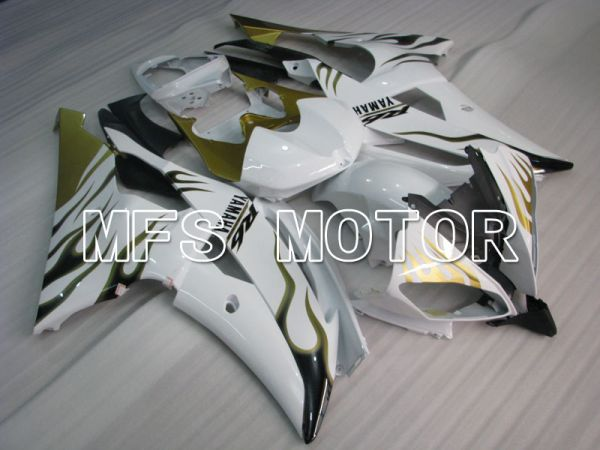 Yamaha YZF-R6 2008-2016 Injection ABS Fairing - Flame - Gold White - MFS3818
