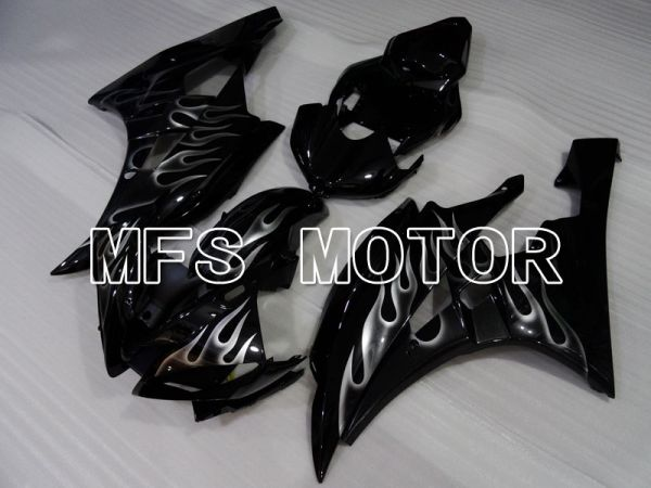 Yamaha YZF-R6 2006-2007 Injection ABS Fairing - Flame - White Black - MFS3820