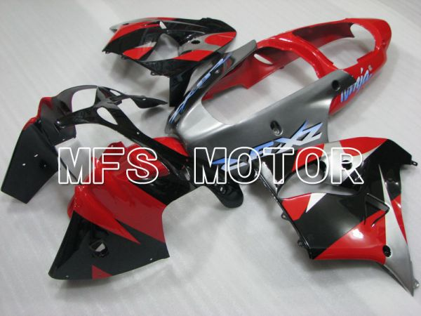 Kawasaki NINJA ZX9R 2000-2001 ABS Fairing - Factory Style - Black Silver Red - MFS3840