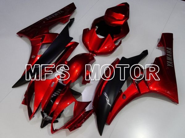 Yamaha YZF-R6 2006-2007 Injection ABS Fairing - Factory Style - Red wine color Black Matte - MFS3843