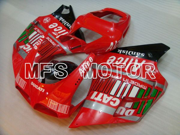 Ducati 748 / 998 / 996 1994-2002 Injection ABS Fairing - Alice - Black Red - MFS3885