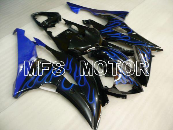 Yamaha YZF-R6 2008-2016 Injection ABS Fairing - Flame - Blue Black - MFS3886
