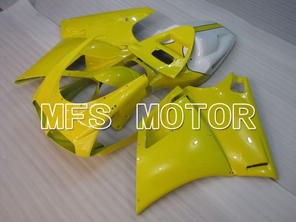 Ducati 748 / 998 / 996 1994-2002 Injection ABS Fairing - Factory Style - Yellow White - MFS3889