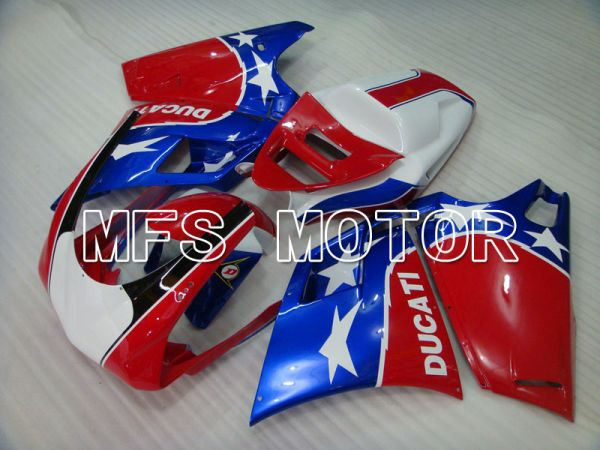 Ducati 748 / 998 / 996 1994-2002 Injection ABS Fairing - Factory Style - Blue Red - MFS3898