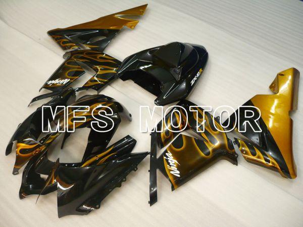 Kawasaki NINJA ZX10R 2004-2005 Injection ABS Fairing - Flame - Black Gold - MFS3957