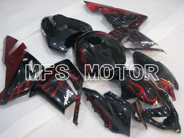 Kawasaki NINJA ZX10R 2004-2005 Injection ABS Fairing - Flame - Black Red - MFS3961