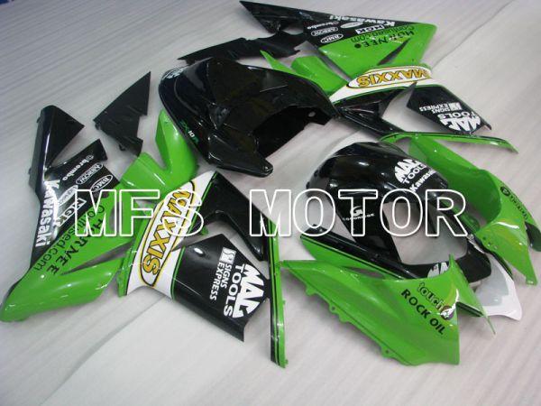 Kawasaki NINJA ZX10R 2004-2005 Injection ABS Fairing - MAXXIS - Black Green - MFS3963