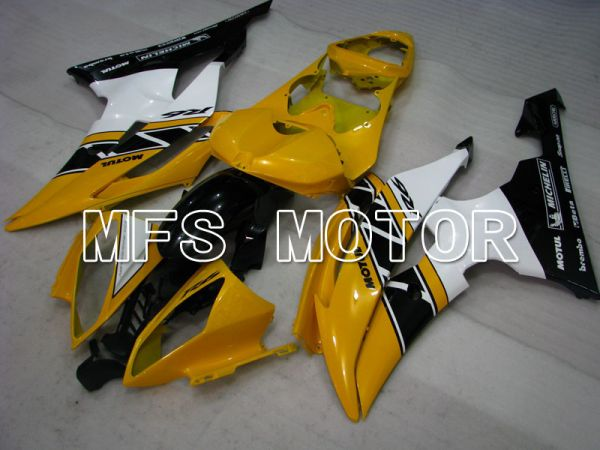Yamaha YZF-R6 2008-2016 Injection ABS Fairing - Factory Style - White Yellow - MFS3964