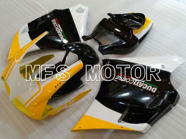 Ducati 748 / 998 / 996 1994-2002 Injection ABS Fairing - Factory Style - Black Yellow - MFS3968