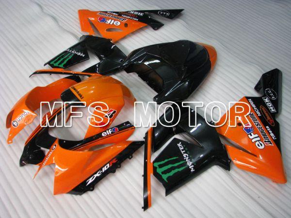 Kawasaki NINJA ZX10R 2004-2005 Injection ABS Fairing - Monster - Black Orange - MFS3969