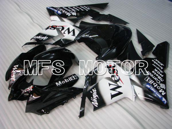 Kawasaki NINJA ZX10R 2004-2005 Injection ABS Fairing - West - Black White - MFS3971