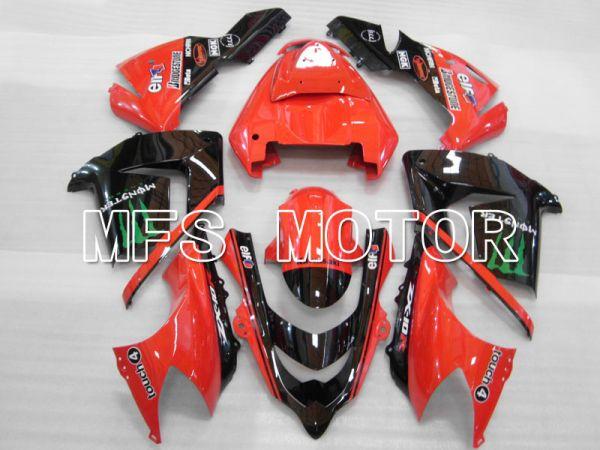 Kawasaki NINJA ZX10R 2004-2005 Injection ABS Fairing - Monster - Black Red - MFS3978