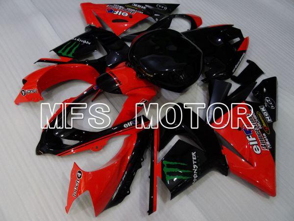 Kawasaki NINJA ZX10R 2004-2005 Injection ABS Fairing - Monster - Black Red - MFS3982