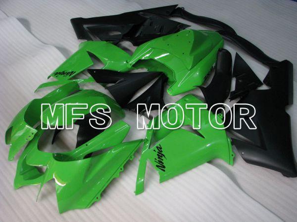 Kawasaki NINJA ZX10R 2004-2005 Injection ABS Fairing - Factory Style - Black Green - MFS3988