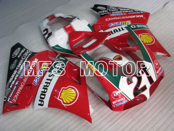 Ducati 916 1994-1998 Injection ABS Fairing - INFO STRADA - Red - MFS3997
