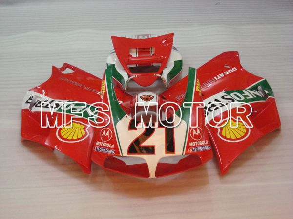 Ducati 916 1994-1998 Injection ABS Fairing - INFO STRADA - Red - MFS4006