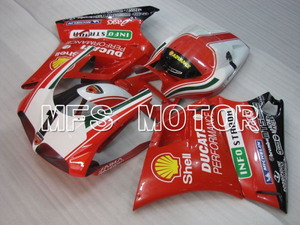 Ducati 916 1994-1998 Injection ABS Fairing - INFO STRADA - Red - MFS4010