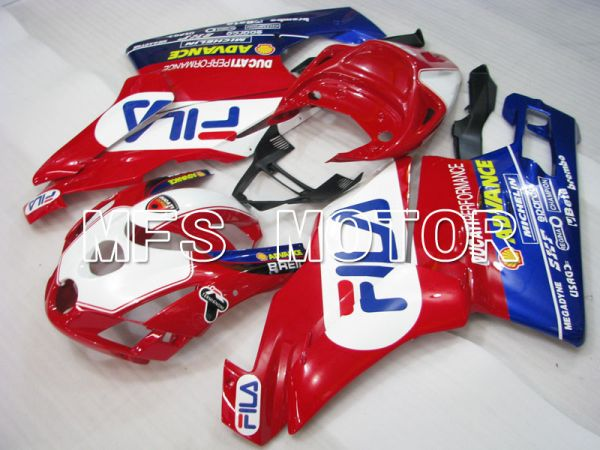 Ducati 749 / 999 2003-2004 Injection ABS Fairing - FILA - Red White - MFS4011