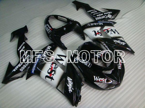 Kawasaki NINJA ZX10R 2006-2007 Injection ABS Fairing - West - Black White - MFS4015