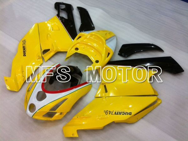Ducati 749 / 999 2003-2004 Injection ABS Fairing - Factory Style - Yellow White - MFS4020