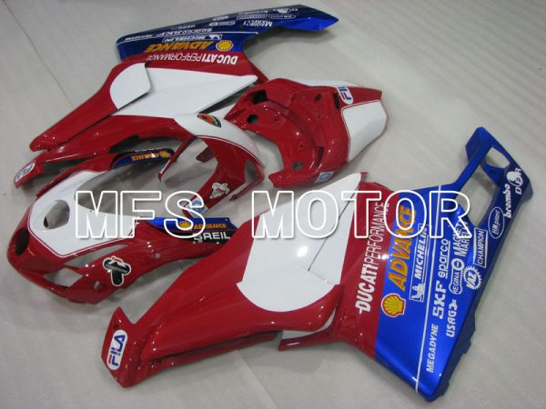 Ducati 749 / 999 2003-2004 Injection ABS Fairing - Others - Red wine color White - MFS4028