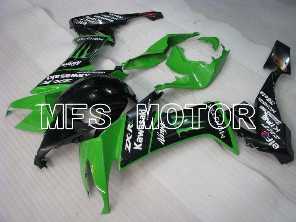 Kawasaki NINJA ZX10R 2008-2010 Injection ABS Fairing - Monster - Black Green - MFS4045