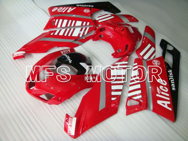 Ducati 749 / 999 2005-2006 Injection ABS Fairing - Alice - Red White - MFS4046