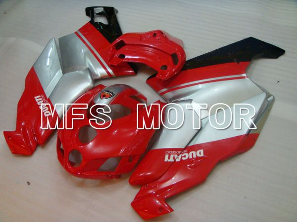 Ducati 749 / 999 2005-2006 Injection ABS Fairing - Factory Style - Red Silver - MFS4054