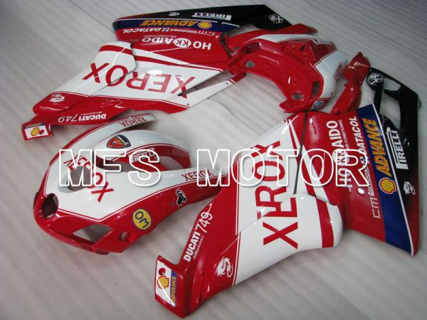 Ducati 749 / 999 2005-2006 Injection ABS Fairing - Xerox - Red White - MFS4056