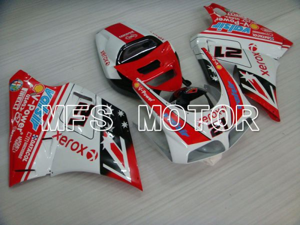 Ducati 916 1994-1998 Injection ABS Fairing - Xerox - Red White - MFS4060