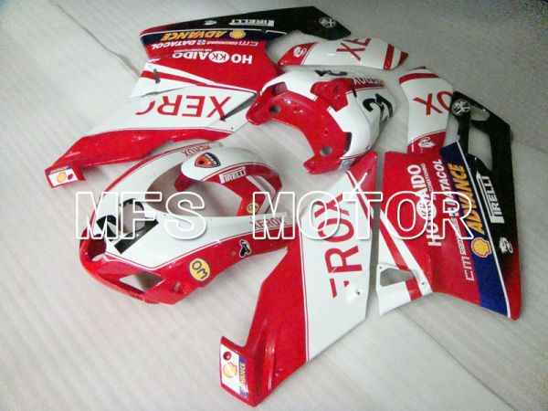 Ducati 749 / 999 2005-2006 Injection ABS Fairing - Xerox - Red White - MFS4065