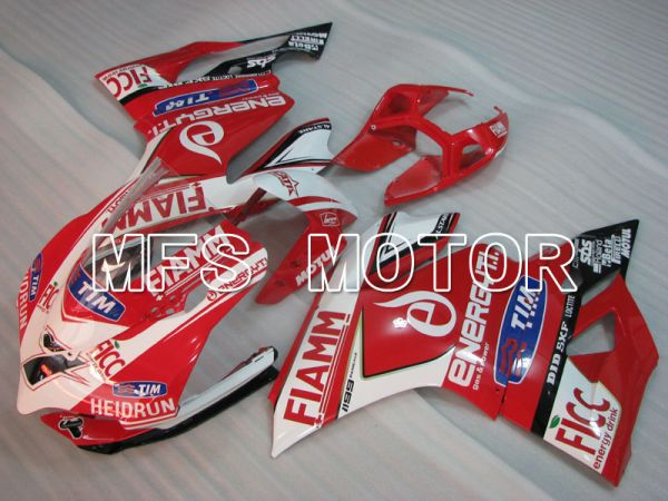 Ducati 1199 2011-2014 Injection ABS Fairing - FIAMM - Red White - MFS4066