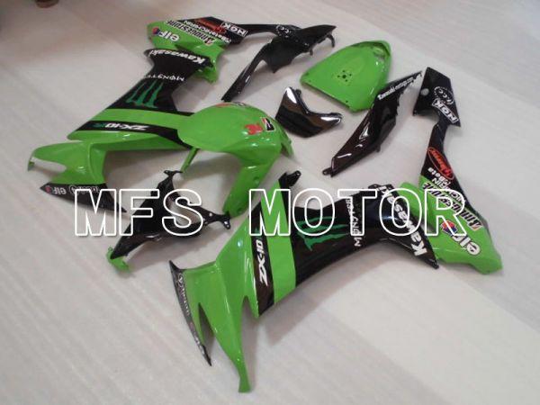 Kawasaki NINJA ZX10R 2008-2010 Injection ABS Fairing - Monster - Black Green - MFS4070