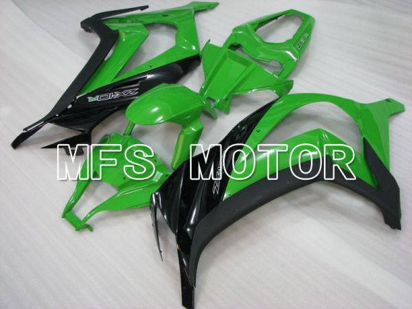 Kawasaki NINJA ZX10R 2011-2015 Injection ABS Fairing - Factory Style - Black Green - MFS4085