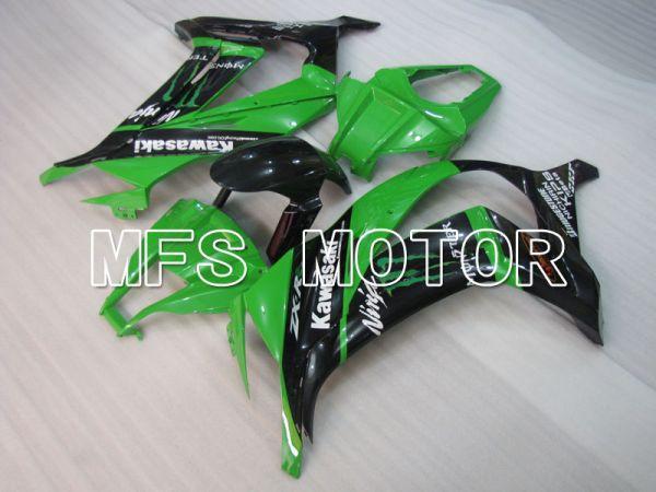 Kawasaki NINJA ZX10R 2011-2015 Injection ABS Fairing - Monster - Black Green - MFS4087